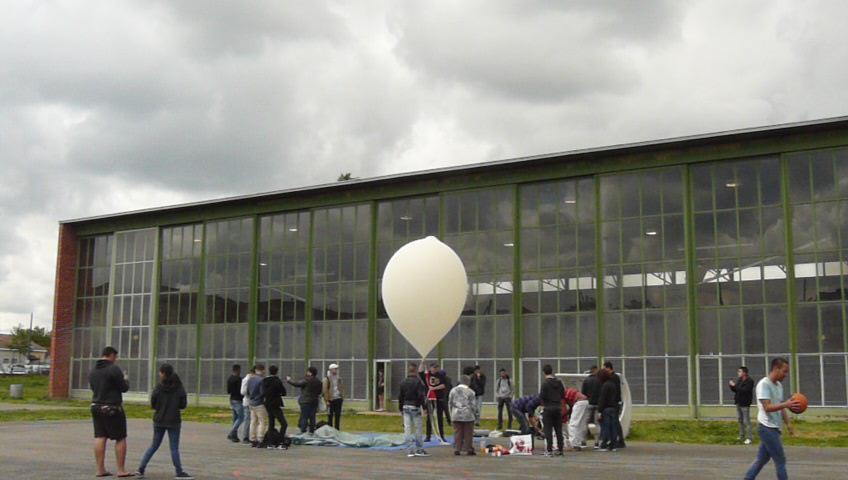 Ballon gonflé 5m3 d'hélium